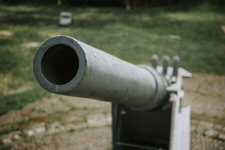 World War 2 anti-aircraft gun in Swinoujscie, Poland