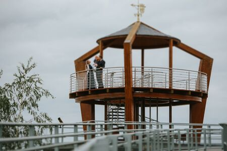Nature observation tower for environmental protection and water management near the village Nowe Warpno, Poland