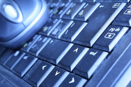 fragment of keyboard and mouse on background Stock Photo - 3822451