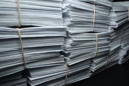 the paper for records on a black background photo