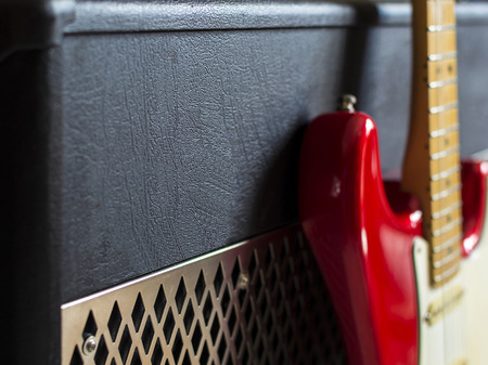 Guitar amplifier and side view