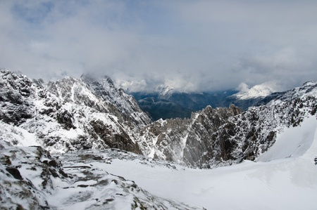 View from the top of the Austrian alpine mountains