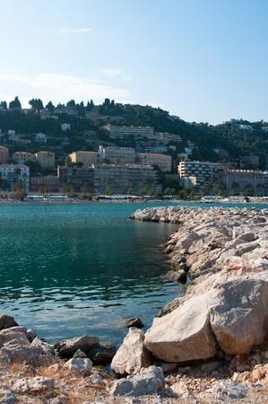 Turquoise seashore of an european city