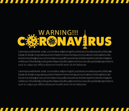 Coronavirus disease (COVID-19) concept. Graphics resource for  virus disease outbreak alert.  Symbol, icon, banner, background and poster design. Vectores