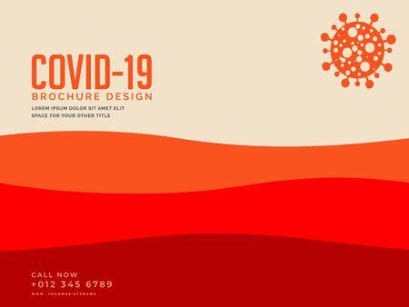 Coronavirus brochure design concept. Foto de archivo - 148622053