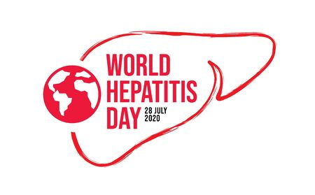 world hepatitis day background template use for card vector design, with minimalist and modern concept, cover, backdrop, heart, lung, international.