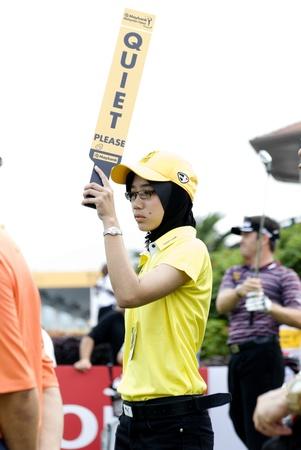 KUALA LUMPUR - APRIL 12: Unidetified girl during tournament Maybank Malaysian Open 2012 day 1st at Kuala Lumpur Golf & Country Club on April 12, 2012 in Kuala Lumpur, Malaysia.  Stock Photo - 13257914
