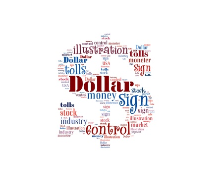 Word Cloud of Dollar Sign Stock Photo - 16539254