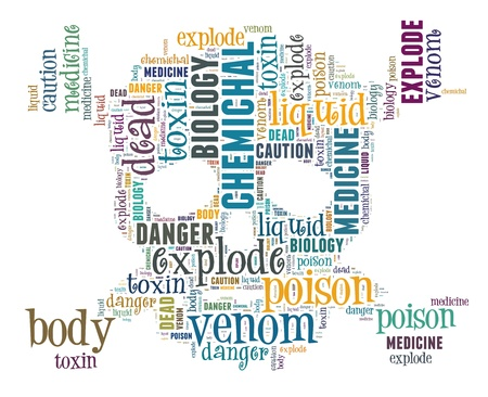 Word Cloud of Skull Poison Sign Stock Photo - 16539248