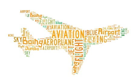 Word Cloud of Aeroplane photo