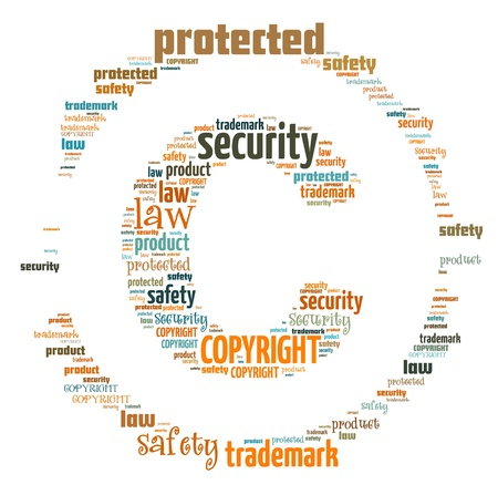 Word Cloud of Copyright Icon photo