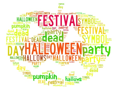 Word Cloud of Halloween Icon photo