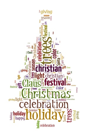 cristmas: Word Cloud of Christmas Tree