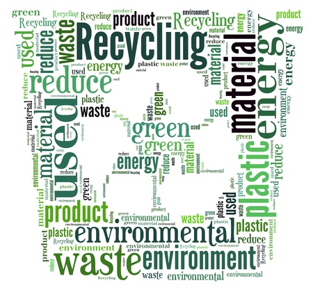 Word Cloud of Recycle Bin Stock Photo - 16685804