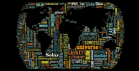Word Cloud of World Maps photo