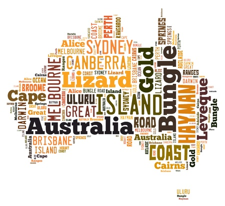 Word Cloud of Australia Maps photo