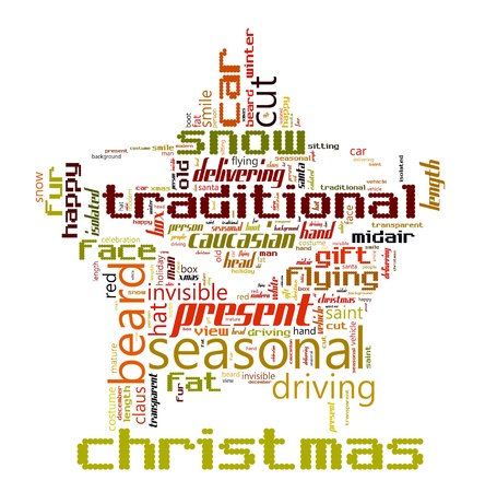 Word Cloud of Christmas Star Stock Photo - 16850899
