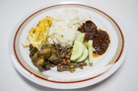 Nasi Lemak, traditional food of Malaysia photo