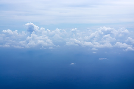Clouds formation over the sea