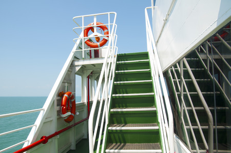 Staircase in ship Фото со стока