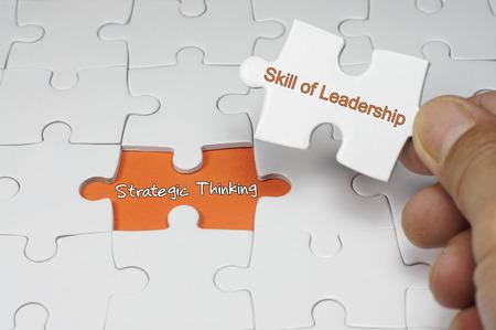 pensamiento estrategico: Rompecabezas de la palabra de Pensamiento Estratégico - Concepto Liderazgo