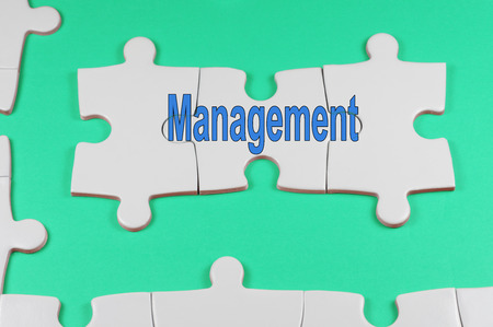 leadership key: Word puzzle of Management - Business Concept