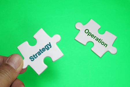 Word Puzzle of Strategy and Operation - Business Concept Stock Photo