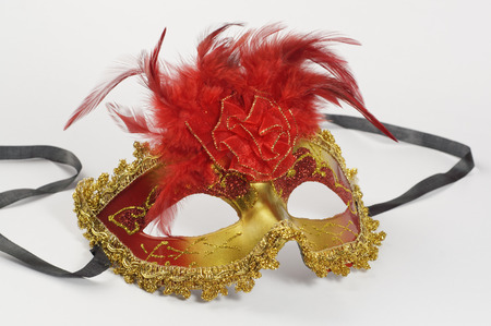 Colorfull Carnival mask isolated on white background