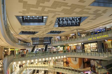 nu: KUALA LUMPUR, MALAYSIA - OCTOBER 19 : NU Sentral is new shopping mall in Kuala Lumpur, Malaysia. Located in KL Sentral, Kuala Lumpur, Malaysia, an largest urban transit hub in Malaysia on October 19, 2015