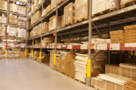 multilayer: Defocused warehouse with multi-layer shelves