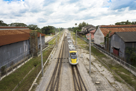Modern High Speed Train using electric power