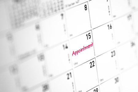 Appointment reminder on calender - Business Concept Фото со стока