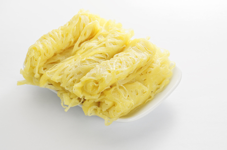 Roti Jala and Chicken Curry, traditional Malaysian Food