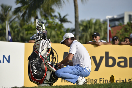 weber: SUBANG, MALAYSIA - FEB 9: Lionel Weber of France pictured during first round of Maybank Championship 2017 in Saujana Golf and Country Club on February 9, 2017 in Subang, Malaysia. Editorial