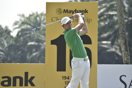 SUBANG, MALAYSIA - FEB 10: Lasse Jensen of Denmark pictured during Maybank Championship 2017 at Saujana Golf and Country Club, Subang, Malaysia on February 10, 2017. Editorial