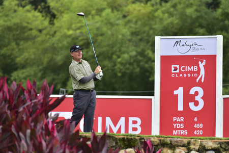 KUALA LUMPUR, MALAYSIA - October 11: Ernie Els of South Africa pictured during 1st round of CIMB CLASSIC 2018 at TPC KUALA LUMPUR, KUALA LUMPUR, MALAYSIA on October 11, 2018. (Photo by Masuti)