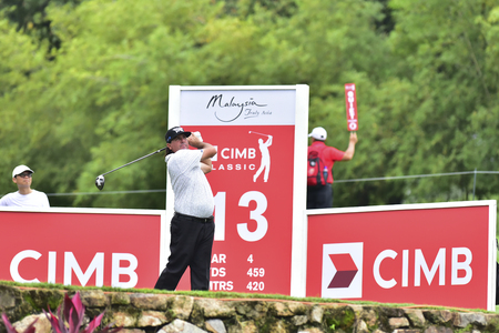 KUALA LUMPUR, MALAYSIA - October 11: Pat Perez of USA pictured during 1st round of CIMB CLASSIC 2018 at TPC KUALA LUMPUR, KUALA LUMPUR, MALAYSIA on October 11, 2018. Editorial