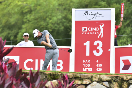 KUALA LUMPUR, MALAYSIA - October 11: Ryan Moore of USA pictured during 1st round of CIMB CLASSIC 2018 at TPC KUALA LUMPUR, KUALA LUMPUR, MALAYSIA on October 11, 2018. Editorial