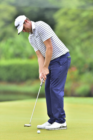 KUALA LUMPUR, MALAYSIA - October 11: Nick Watney of USA pictured during 1st round of CIMB CLASSIC 2018 at TPC KUALA LUMPUR, KUALA LUMPUR, MALAYSIA on October 11, 2018.