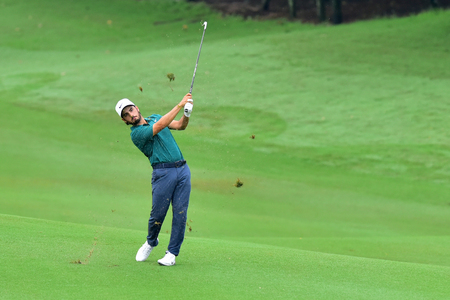 KUALA LUMPUR, MALAYSIA - October 11:  Abraham Ancer of Mexico hit the second shot at the hole 2 during 1st round of CIMB CLASSIC 2018 at TPC KUALA LUMPUR, KUALA LUMPUR, MALAYSIA on October 11, 2018. (Photo by Masuti)