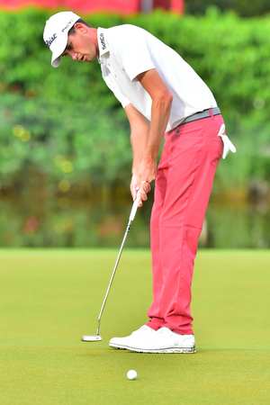 KUALA LUMPUR, MALAYSIA - October 11: Chesson Hadley of USA make a putt at the holes 2 during 1st round of CIMB CLASSIC 2018 at TPC KUALA LUMPUR, KUALA LUMPUR, MALAYSIA on October 11, 2018.