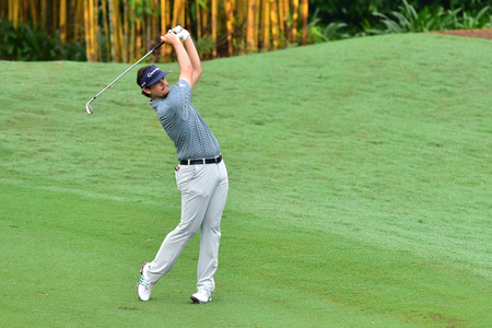 KUALA LUMPUR, MALAYSIA - October 11: Beau Hossler of USA pictured during 1st round of CIMB CLASSIC 2018 at TPC KUALA LUMPUR, KUALA LUMPUR, MALAYSIA on October 11, 2018. Publikacyjne