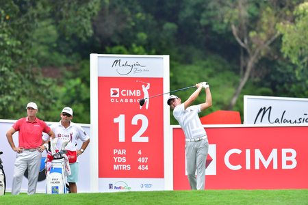 KUALA LUMPUR, MALAYSIA - October 11: Ben Leong of Malaysia pictured during 1st round of CIMB CLASSIC 2018 at TPC KUALA LUMPUR, KUALA LUMPUR, MALAYSIA on October 11, 2018.