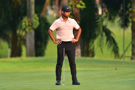 Kuala Lumpur - March 21: Shubankar Sharma of India, pictured during Round 1 of Maybank Championship 2019, at Saujana  Golf & Country Club,  Kuala Lumpur, Malaysia , on March 21, 2019. Editorial