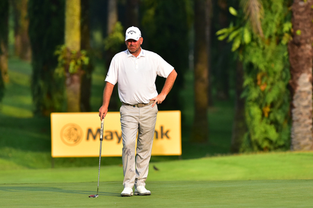Kuala Lumpur - March 21: Thomas Bjorn of Denmark pictured during Round 1 of Maybank Championship 2019, at Saujana  Golf & Country Club,  Kuala Lumpur, Malaysia , on March 21, 2019.