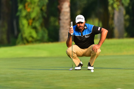 Kuala Lumpur - March 21: Gaganjeet Bhullar of India, pictured during Round 1 of Maybank Championship 2019, at Saujana  Golf & Country Club,  Kuala Lumpur, Malaysia , on March 21, 2019. Editorial