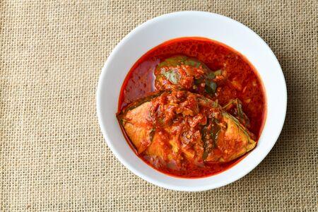 Close up of Malaysian Dish  Asam Pedas Zdjęcie Seryjne