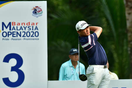 SHAH ALAM, MARCH 5 : Justin De Los Santos of Philippine, pictured during round 1 of the Bandar Malaysia Open 2020 at Kota Permai Golf & Country Club, Shah Alam, Selangor, Malaysia, on March 5, 2020. Éditoriale