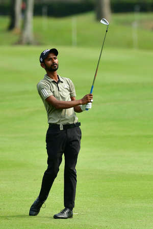 SHAH ALAM, MARCH 5 : Rashid Khan of India, pictured during round 1 of the Bandar Malaysia Open 2020 at Kota Permai Golf & Country Club, Shah Alam, Selangor, Malaysia, on March 5, 2020. Éditoriale