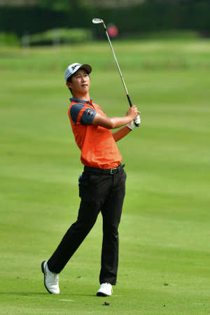 SHAH ALAM, MARCH 5 : Rikuya Hoshino of Japan, pictured during round 1 of the Bandar Malaysia Open 2020 at Kota Permai Golf & Country Club, Shah Alam, Selangor, Malaysia, on March 5, 2020. Éditoriale